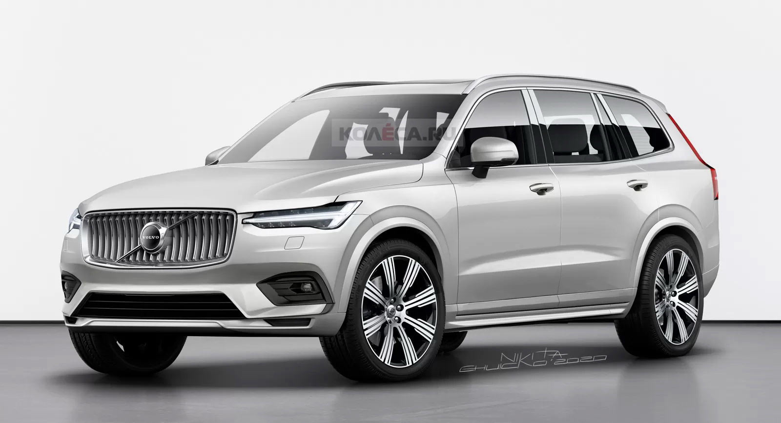 Hier is One Take On Volvo's aankomende XC100 Flagship SUV